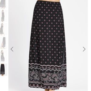 NWOT High Slit Printed Maxi Skirt
